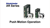 MEXE02 Support Software: AR Series Push Motion Operation