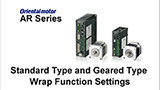 MEXE02 Support Software: AR Series Standard Type and Geared Type Wrap Function Settings