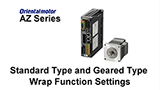 MEXE02 Support Software: AZ Series Standard Type and Geared Type Wrap Function Settings