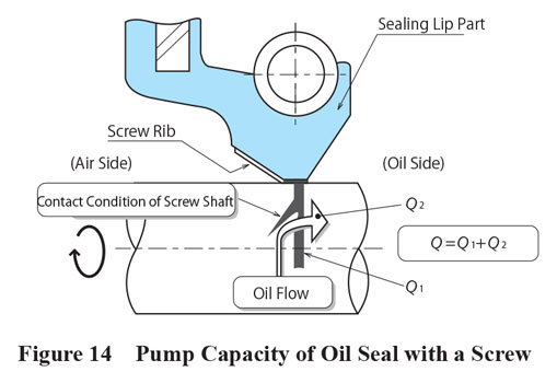 Pump Capacity of Oil Seal with Screw