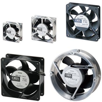 Low Speed Alarm DC Input Axial Fans - MDA Series