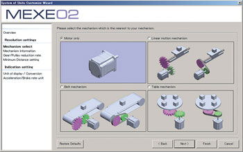 MEXE02 Software