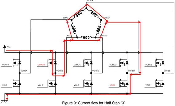 pentagon driver current flow half step 3 stepper motor new pentagon drivers oriental motor wiring diagram at mifinder.co