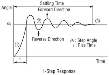 Stepper Motor One Step Response